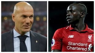 Zinedine Zidane and Sadio Mane