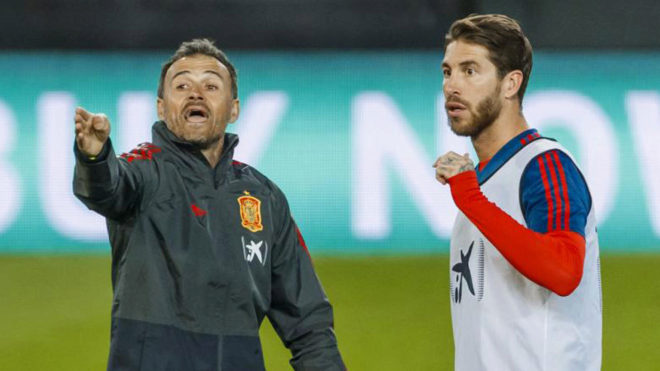 Luis Enrique and Sergio Ramos