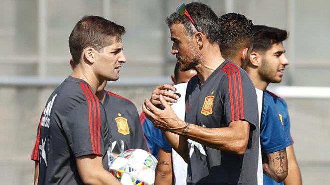 Roberto Moreno and Luis Enrique