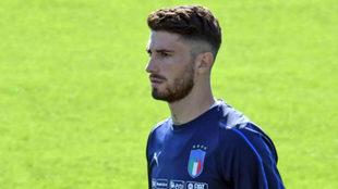 El valencianista Cristiano Piccini, con Italia.