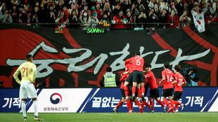 Lee Jae-sung celebra el gol del triunfo.
