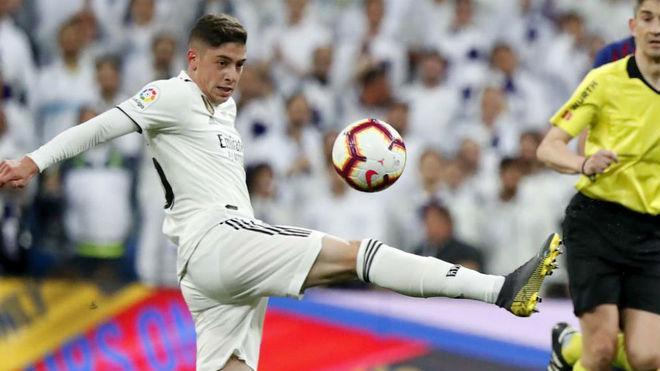 Fede Valverde, en un partido con el Madrid
