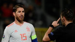 Ramos en el partido contra Malta