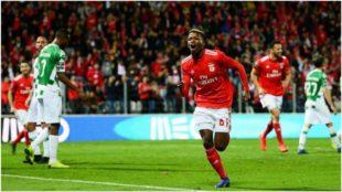 Florentino celebra su gol contra el Moreirense.