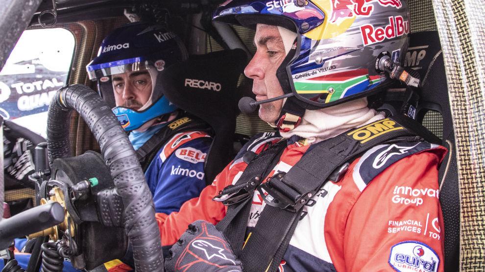 Alonso, copiloto de De Villiers.