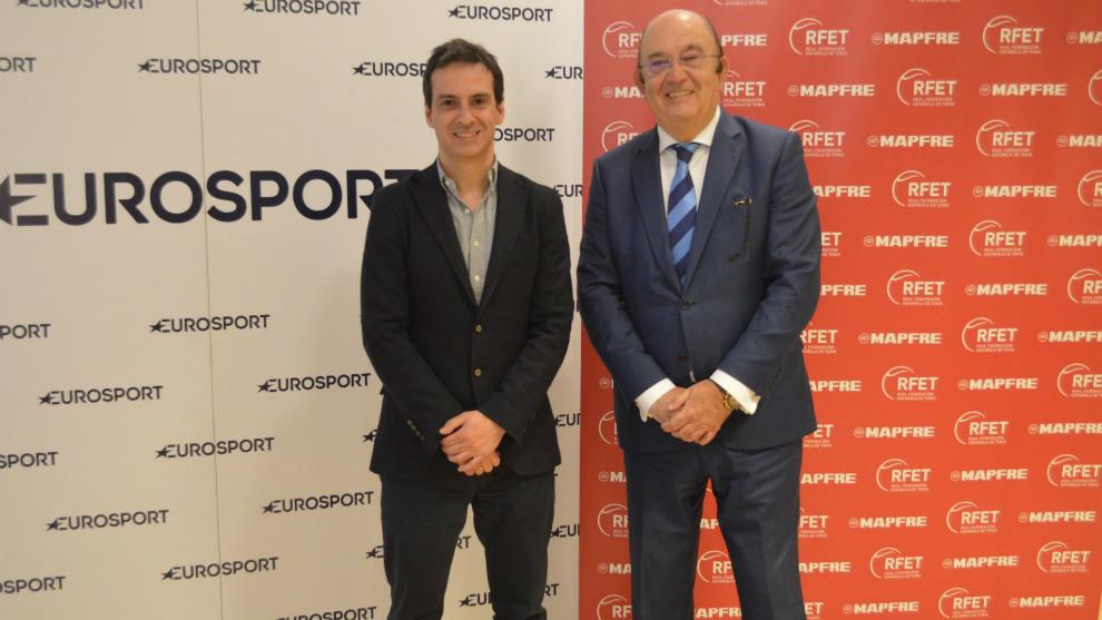 Antonio Ruiz, director general de Discovery en España y Portugal, y...