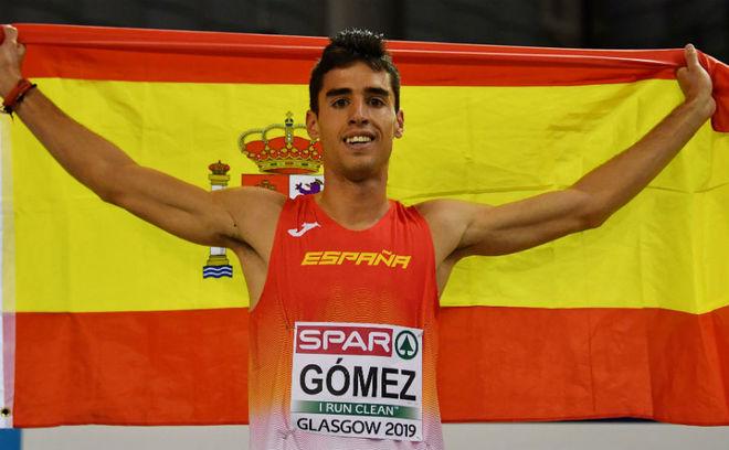 Jesús Gómez, tras ganar el bronce en Glasgow