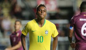Rodrygo, en un partido de la selección sub 20 contra Venezuela.
