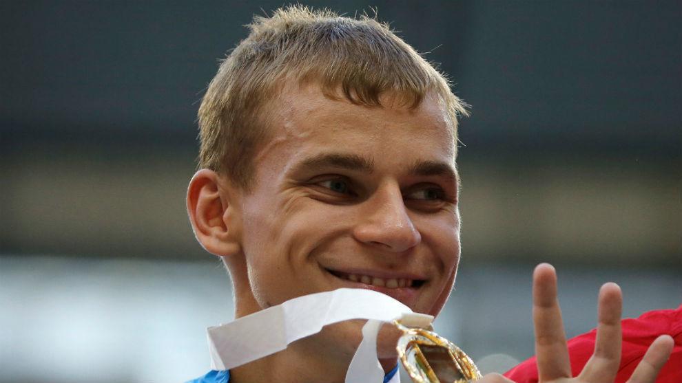 El ruso Aleksandr Ivanov cuando ganó oro en el Mundial de Rusia 2013