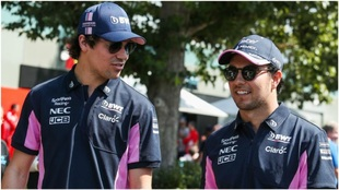 Lance Stroll y Checo Pérez, pilotos de Racing Point.