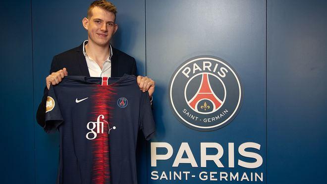 El joven jugador francés del PSG, Robin Dourte /