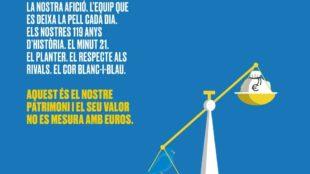 Imagen del mensaje del Espanyol