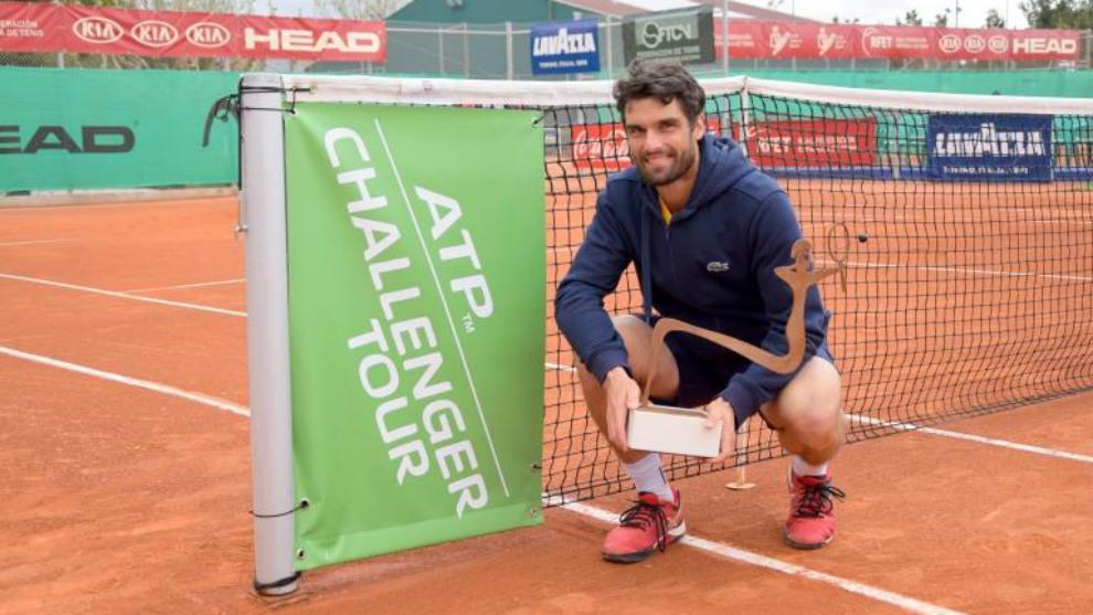 Pablo Andújar, tras ganar el Challenger de Alicante la pasada...