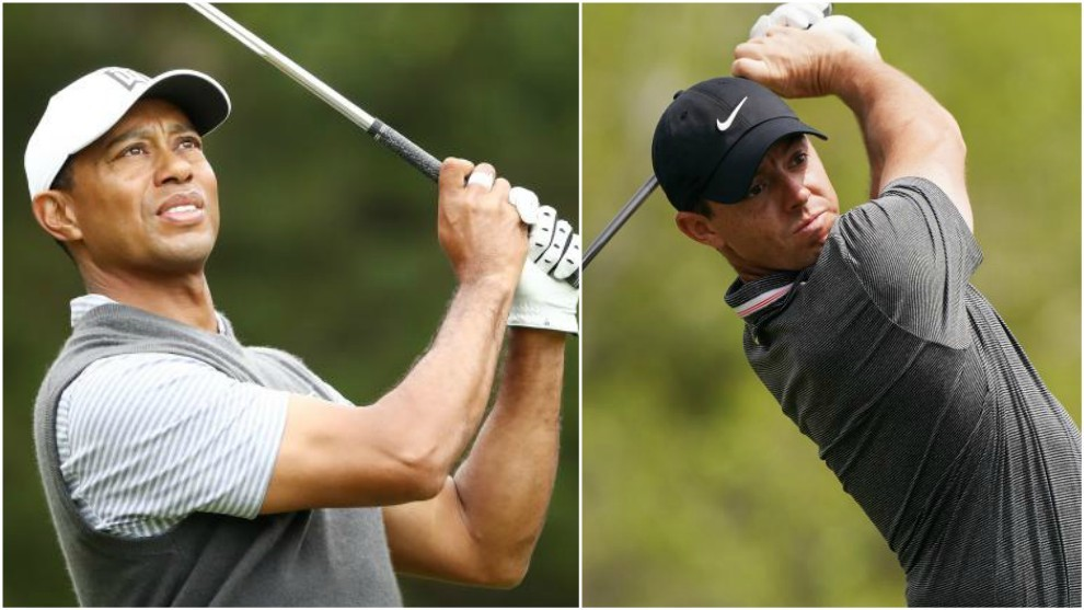 Tiger Woods y Rory McIlroy.
