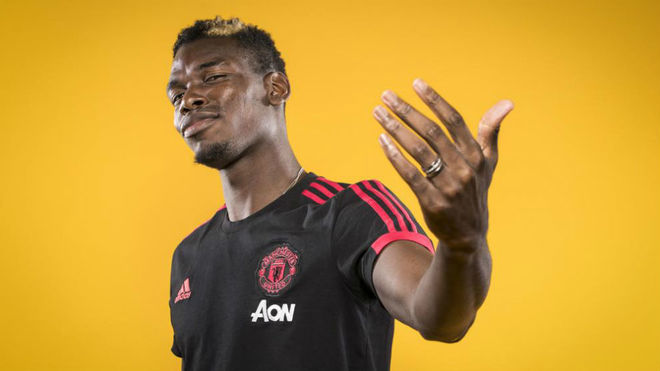 Paul Pogba, con la camiseta del United