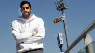 Borja posa para MARCA en las instalaciones de la Ciudad Deportiva.