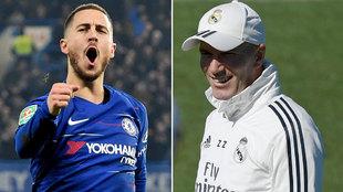Hazard y Zidane