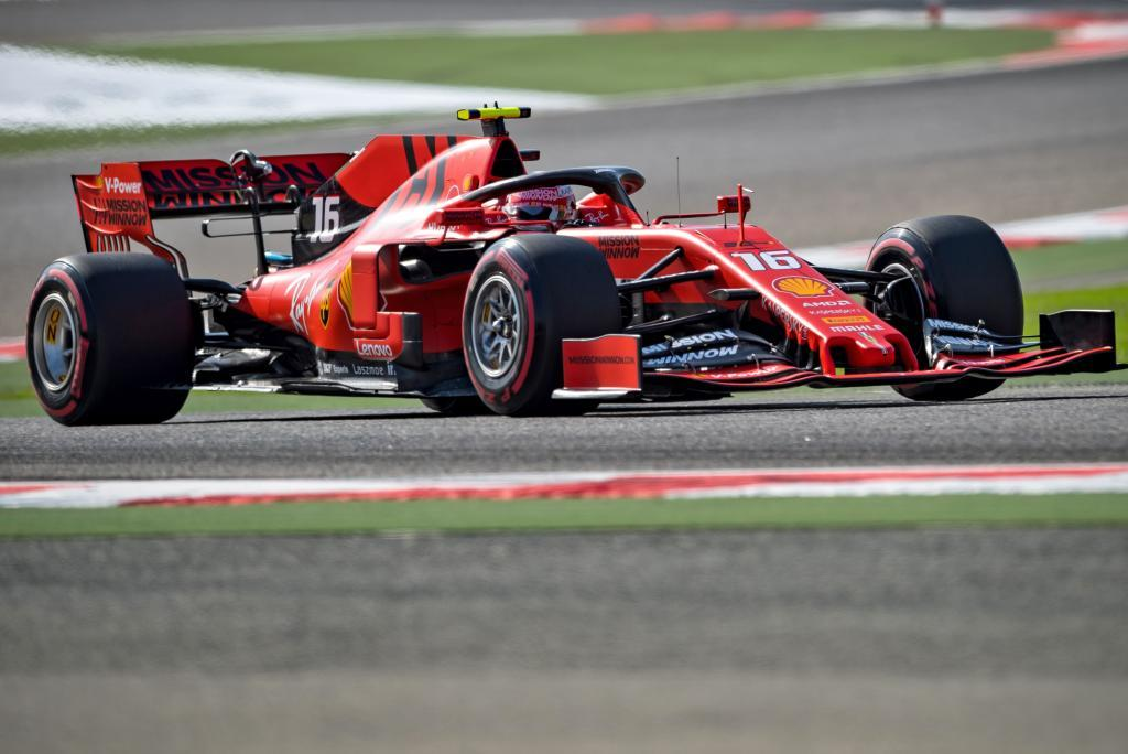 Ferraris Monegasque driver Charles <HIT>Leclerc</HIT> takes part in the first practice session ahead of the Formula One Bahrain Grand Prix at the Sakhir circuit in the desert south of the Bahraini capital Manama, on March 29, 2019. - The Formula One Bahrain Grand Prix will be held on March 31. (Photo by Andrej ISAKOVIC / AFP)
