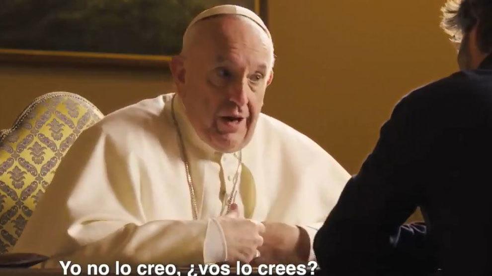 El Papa Francisco en un momento de la entrevista de Jordi Evole en...