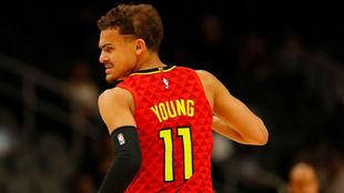 Trae Young, en un partido de los Hawks.