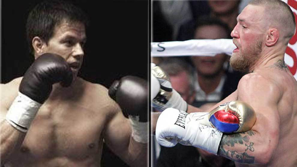 Mark Wahlberg boxeando en la película 'The Fighter' y Conor McGregor