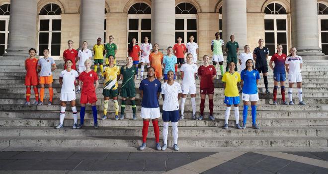 Jugadoras de las 14 selecciones que viste Nike en el Mundial de...