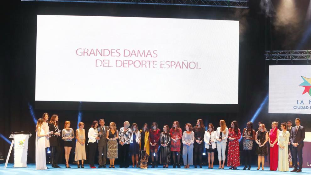 Las grandes damas del deporte español, durante la Gala.