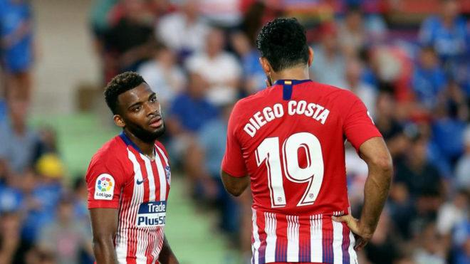 Lemar y Diego Costa no jugarán ante el Girona por lesión.