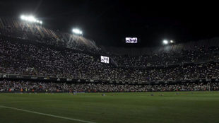 Imagen de Mestalla durante los actos del Centenario.