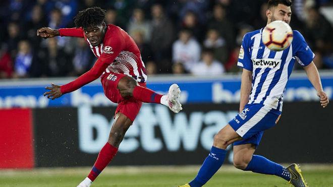 Ghanaian midfielder Thomas Partey's cannon