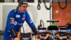 Alonso, durante la jornada de test de hoy en Bahréin.