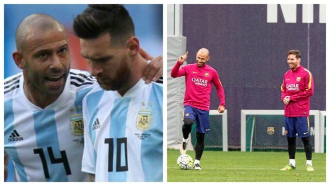 Mascherano and Messi.