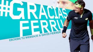 Ferrer al lado del hashtag #GraciasFerru