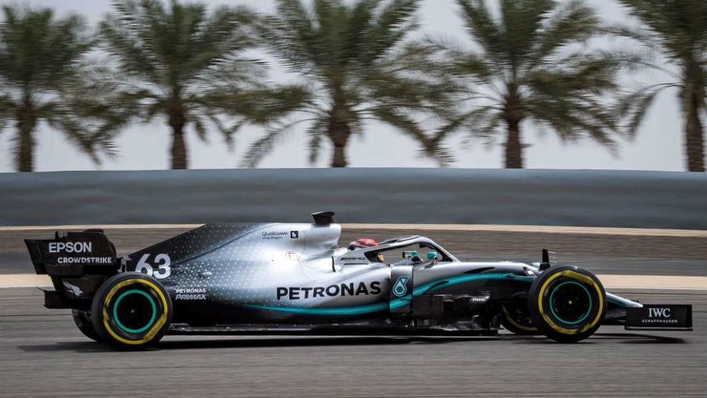 George Russell, hoy durante los test en Bahréin