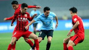 Gaitán durante su etapa en el fútbol chino.
