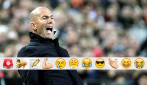 Zidane, en el partido contra el Valencia