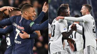 PSG y Juventus.