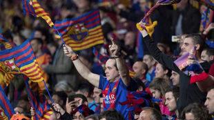 Aficionados del Barça, en la pasada final de Copa del Rey.