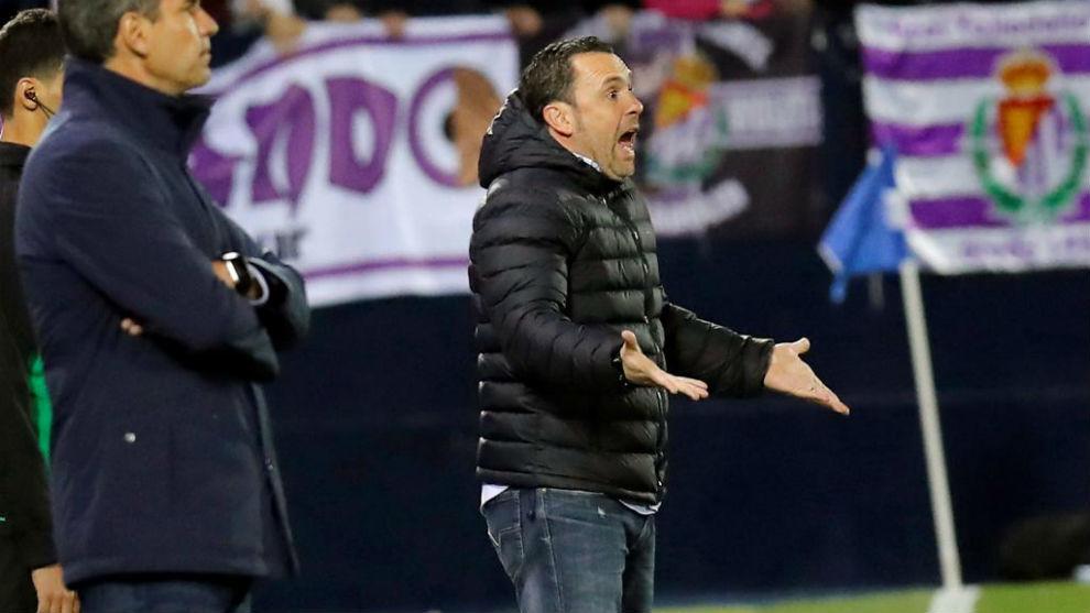 ?Sergio durante el partido en Butarque.