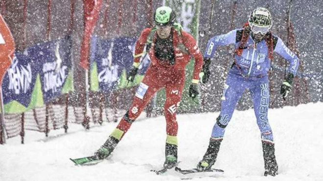 Oriol Cardona y Robert Antonioli, al entrar en meta.