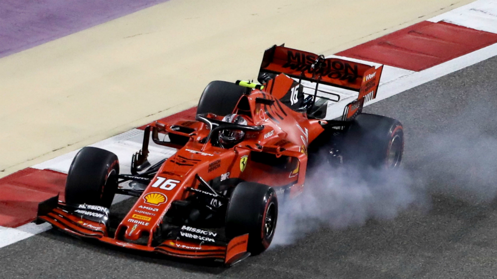 Leclerc, en el GP de Bahréin.