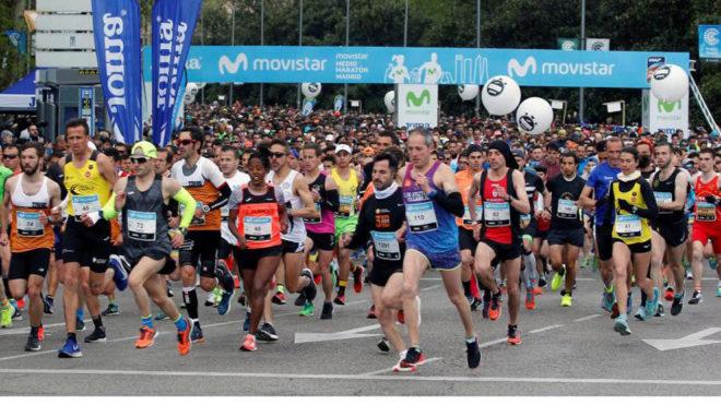 Imagen de la salida del Medio Maratón de Madrid.