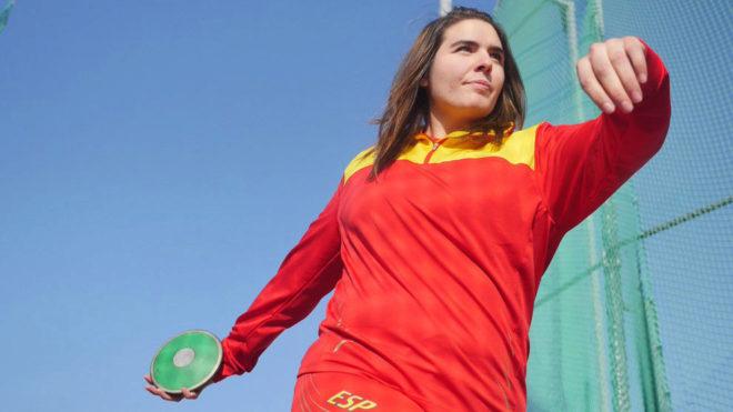 Sabina Asenjo, durante un entrenamiento.