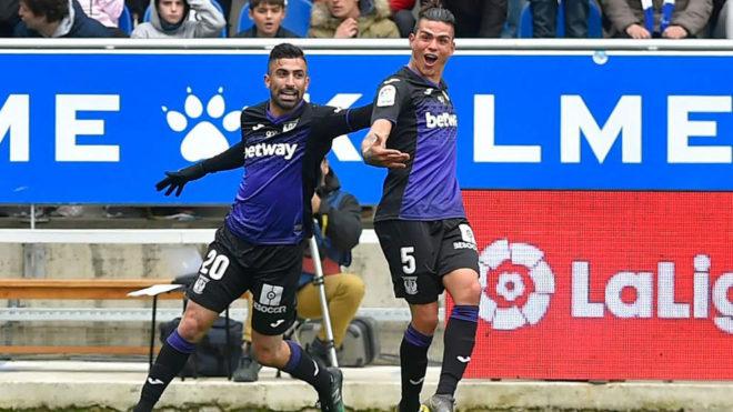 Silva celebra el tanto logrado in extremis que significó el empate...