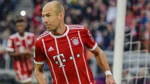 Arjen Robben celebra un gol conseguido con el Bayern de Múnich.