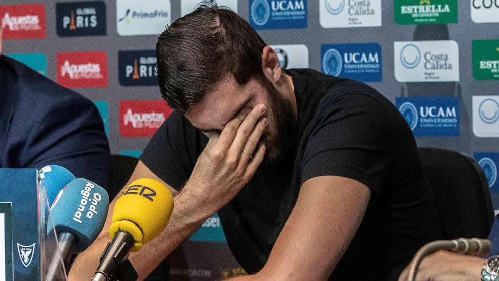 Antelo entre lágrimas el día que anunció su retirada