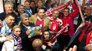 Hermanamiento entre aficionados del Granada y del Málaga