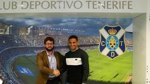 Víctor Moreno y Suso Santana, durante la presentación de la...