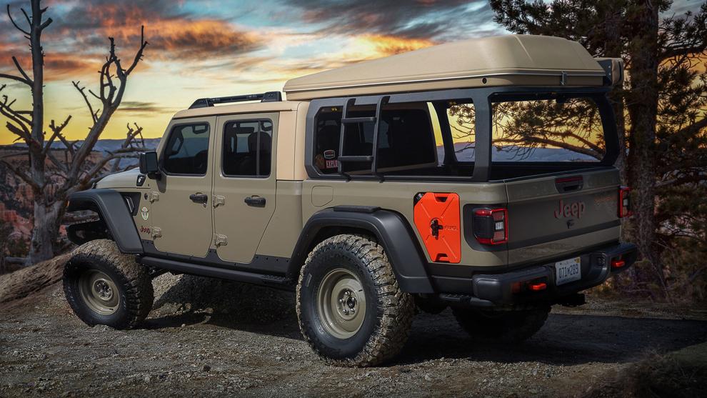 Las más off road: Jeep presentó seis prototipos de pick ups