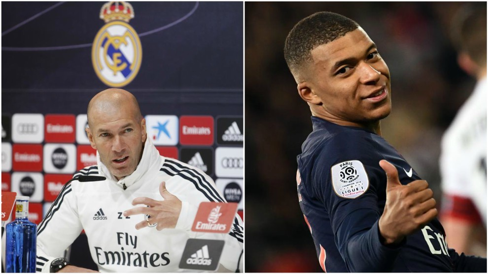 Zidane and Mbappe.